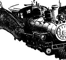 flying train by Vana Shipton