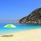 Sun, Sea and Shade - Myrtos Beach by Honor Kyne