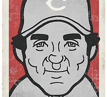 Johnny Bench Caricature by RJCSportsArt