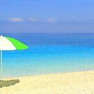 Sun, Sea, Shade and Shadow - Myrtos Beach by Honor Kyne