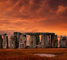Stonehenge Sunset by John Wallace