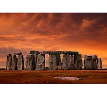 Stonehenge Sunset Photographic Print