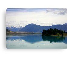 Lake Ruataniwha New Zealand landscape Canvas Print