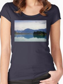 Lake Ruataniwha New Zealand landscape Women's Fitted Scoop T-Shirt