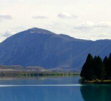 Lake Ruataniwha New Zealand landscape Sticker