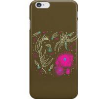 Peaceful-Yellow & Fuschia Floral iPhone Case/Skin