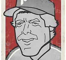 Mike Schmidt Caricature by RJCSportsArt