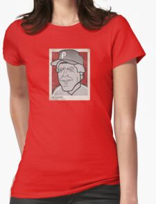 Mike Schmidt Caricature Womens Fitted T-Shirt