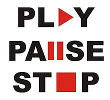 play pause stop Photographic Print