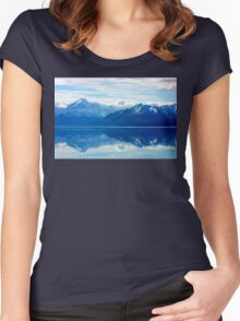 Lake Pukaki, New Zealand landscape Women's Fitted Scoop T-Shirt