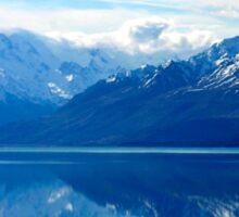 Lake Pukaki, New Zealand landscape Sticker