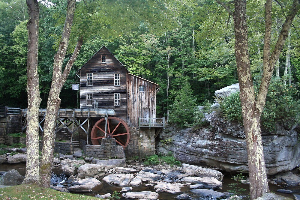 babcock state park grist mill by fotoflossy