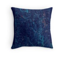 Massachusetts  USGS Historical Topo Map MA Sandisfield 353016 1888 62500 Inverted Throw Pillow