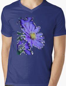A SPLASH OF SPRING IN BLUE Mens V-Neck T-Shirt