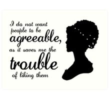 Jane Austen-inspired Quote Art Print