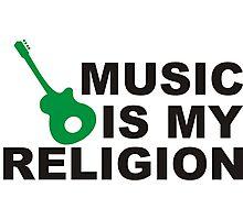 music is my religion Photographic Print