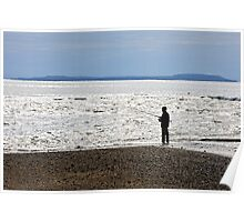 Shore Fishing, Cullenstown Strand, County Wexford, Ireland Poster