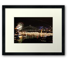 The Harbour over a long night Framed Print