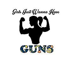 Girls Just Wanna Have Guns Photographic Print