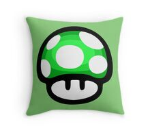 1 Up mushroom Throw Pillow