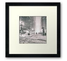 New York City - Winter - Empty Streets Framed Print