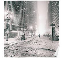 New York City - Winter - Empty Streets Poster