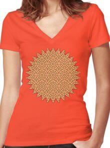 Kaleidoscope Pattern #28 Women's Fitted V-Neck T-Shirt