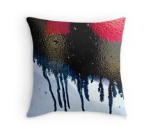 Urban Red Back Throw Pillow