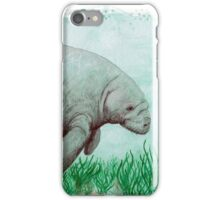 Manatee in Watercolor  iPhone Case/Skin