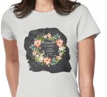 Color in a Picture Quote Womens Fitted T-Shirt