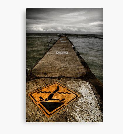 Tidal Pool - Warning! Canvas Print