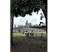 couple on a bench, chicago  Photographic Print