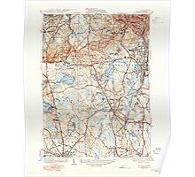Massachusetts  USGS Historical Topo Map MA Blue Hills 351563 1941 31680 Poster