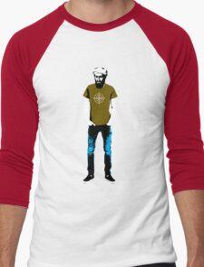 Hipster Bin Laden Men's Baseball ¾ T-Shirt