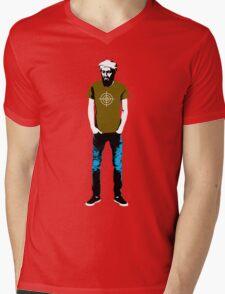 Hipster Bin Laden Mens V-Neck T-Shirt