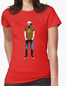 Hipster Bin Laden Womens Fitted T-Shirt