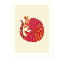 The Ethnic Armadillo Art Print