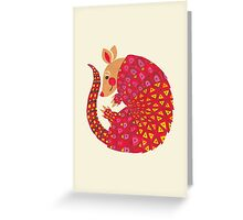 The Ethnic Armadillo Greeting Card