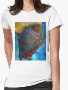 Psychedelic Cobweb Womens Fitted T-Shirt
