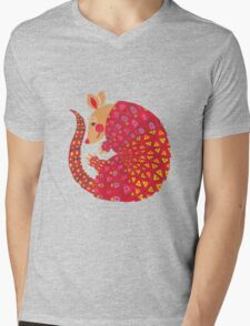 The Ethnic Armadillo Mens V-Neck T-Shirt