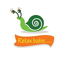 Relax Snail Photographic Print