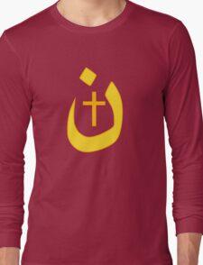 Christian Nazarene Symbol Solidarity and Cross Long Sleeve T-Shirt