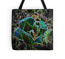 Wild Flower Colorful Tulip Abstract 2 Tote Bag