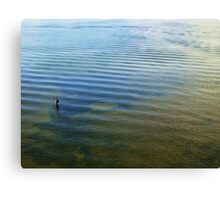 Angler & Blue Mussels Canvas Print