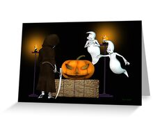 Halloween Deal .. the ghosts try to sell the pumpkin Greeting Card