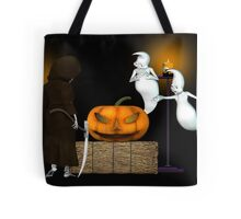 Halloween Deal .. the ghosts try to sell the pumpkin Tote Bag