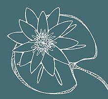 White Water Lily Outline by Alyssa Duckworth