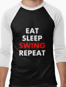 Cesaro - Eat, Sleep, Swing, Repeat Men's Baseball ¾ T-Shirt