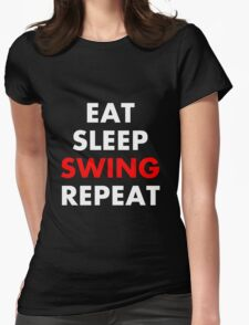 Cesaro - Eat, Sleep, Swing, Repeat Womens Fitted T-Shirt