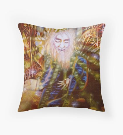 """"""" Contemplation of the firefly"""" Throw Pillow"""